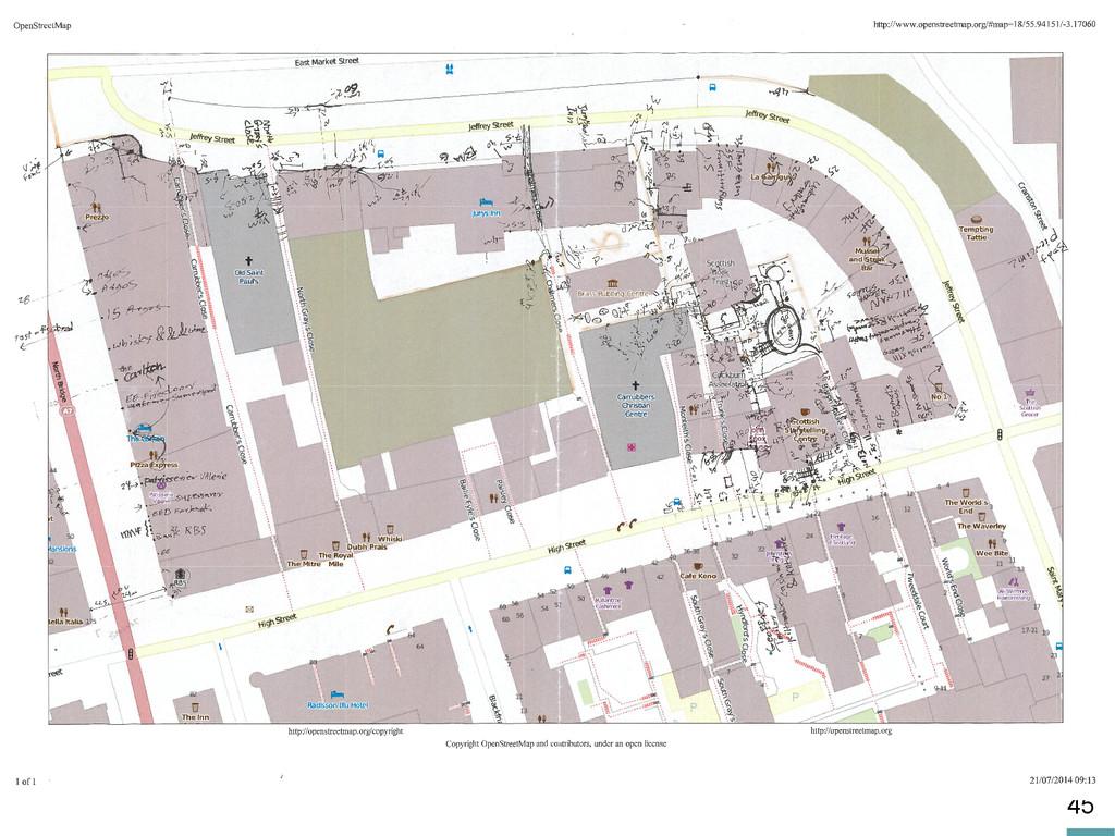 45 Old maps: vectorisation/data integration