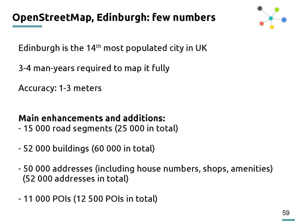 59 OpenStreetMap, Edinburgh: few numbers Edinbu...