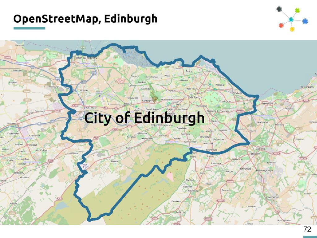 72 OpenStreetMap, Edinburgh 200