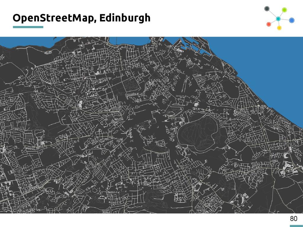 80 OpenStreetMap, Edinburgh 200