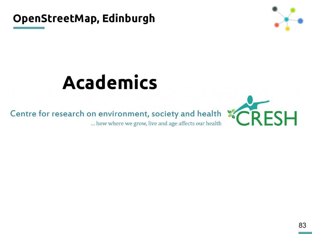 83 OpenStreetMap, Edinburgh 200 Academics