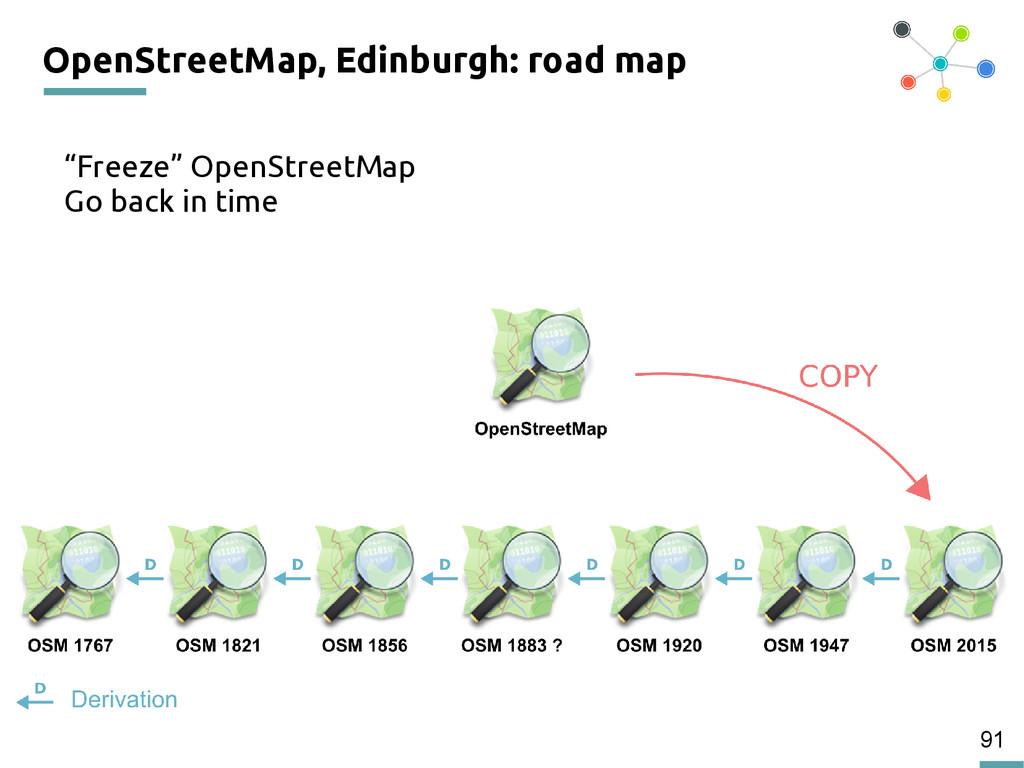"91 OpenStreetMap, Edinburgh: road map ""Freeze"" ..."