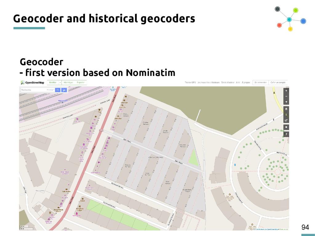 94 Geocoder and historical geocoders Geocoder -...