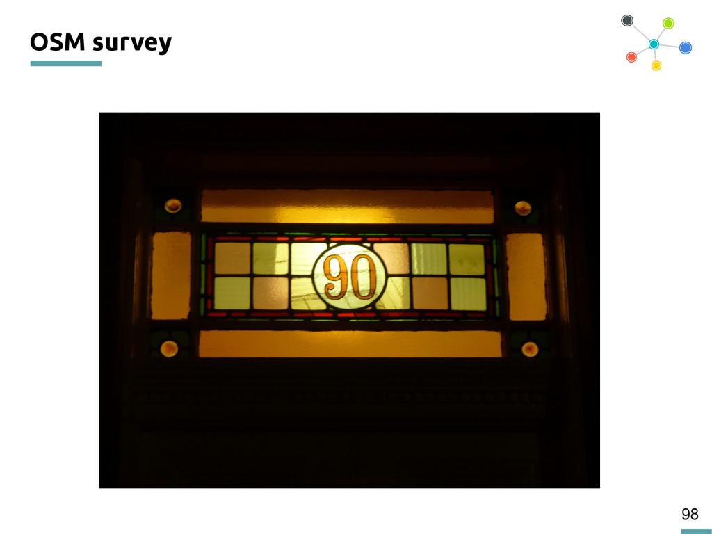 98 OSM survey