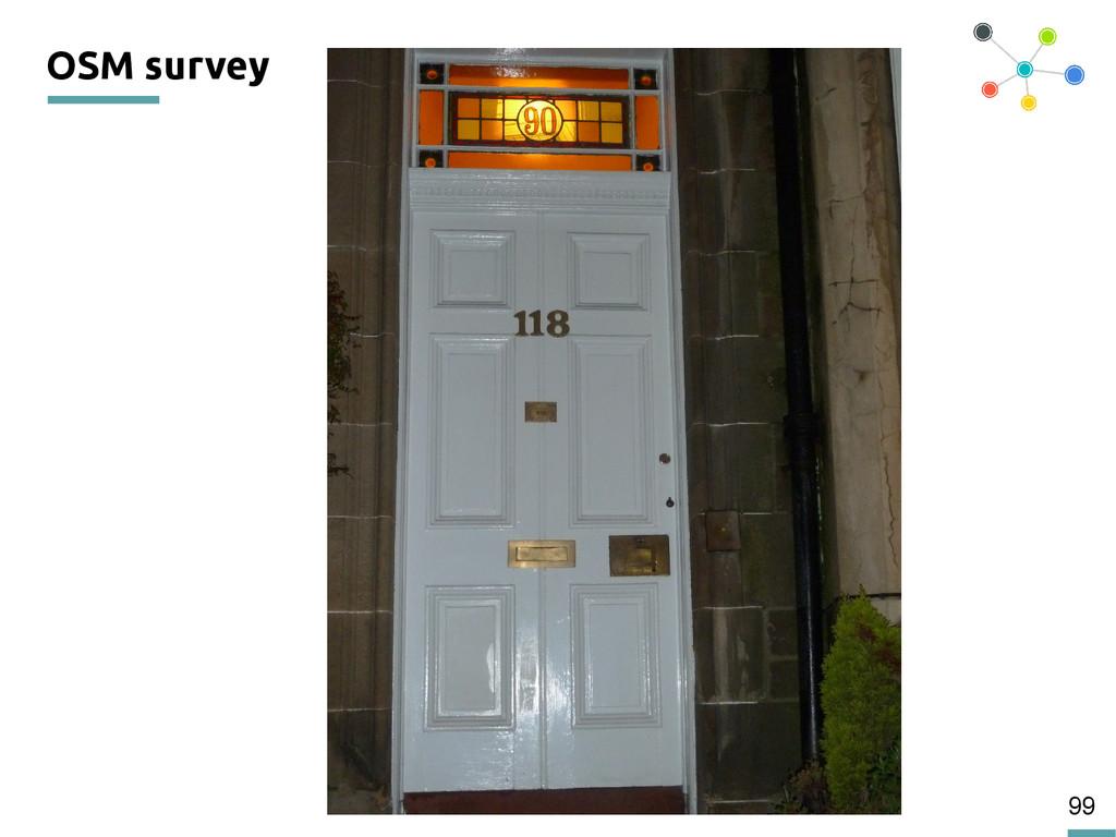99 OSM survey