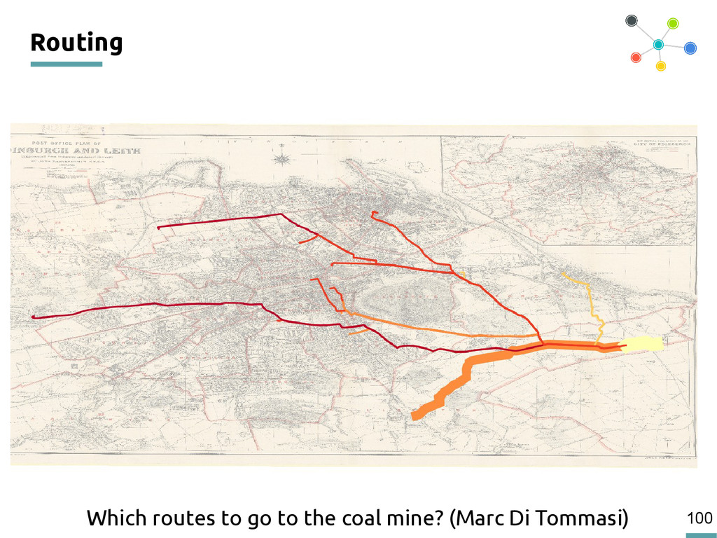 100 Routing Which routes to go to the coal mine...