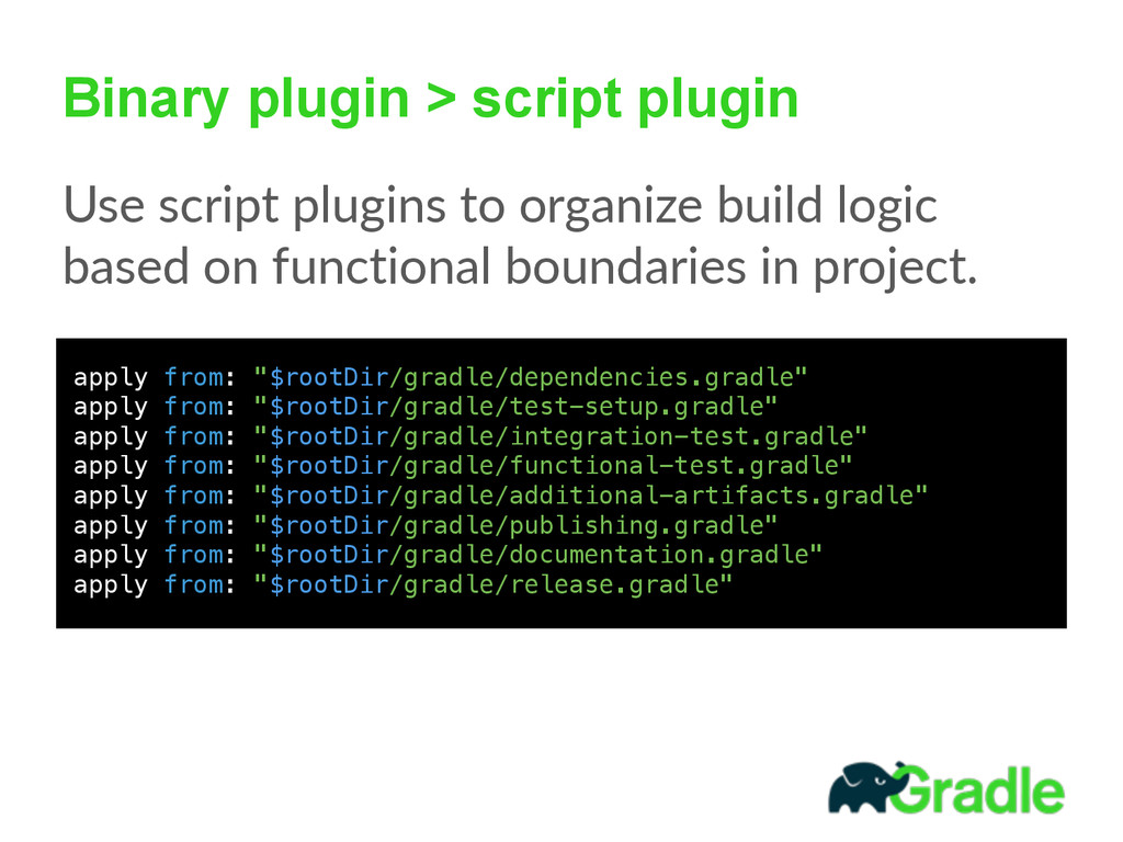 Binary plugin > script plugin Use script plug...