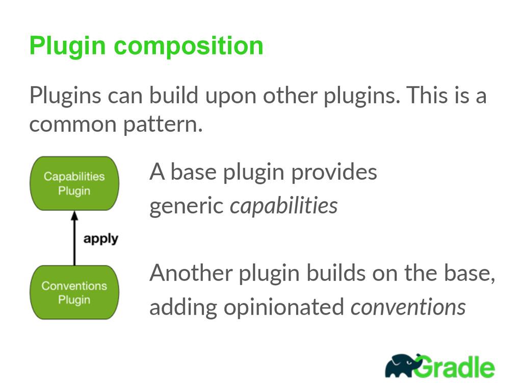 Plugin composition Plugins can build upon o...