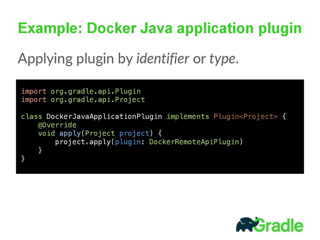 Example: Docker Java application plugin Applyin...