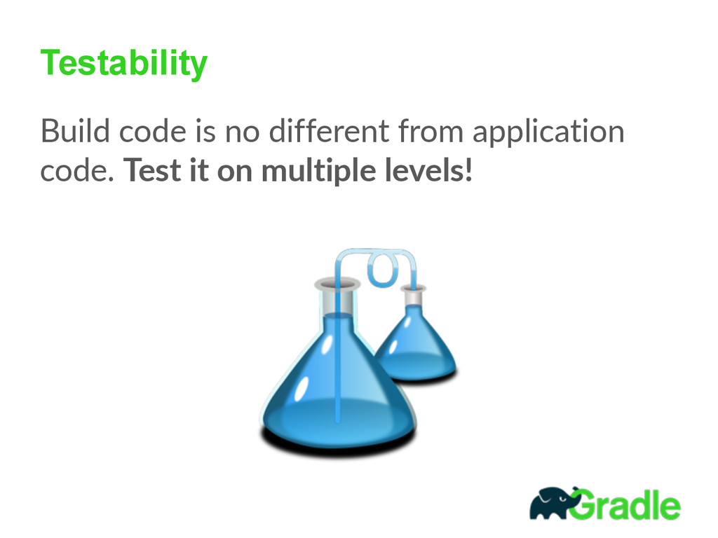Testability Build code is no different fro...