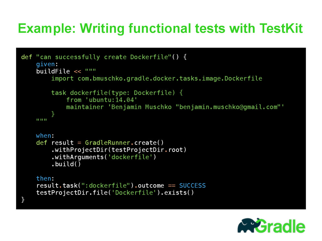 Example: Writing functional tests with TestKit ...
