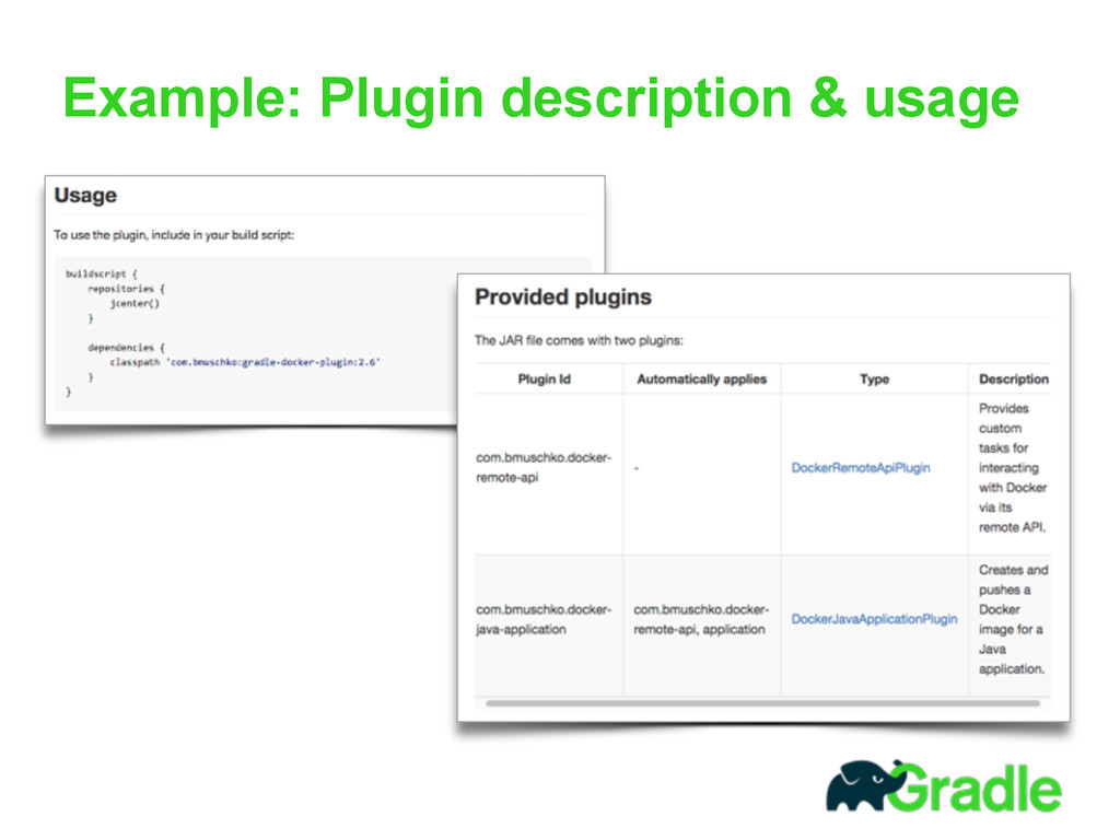 Example: Plugin description & usage
