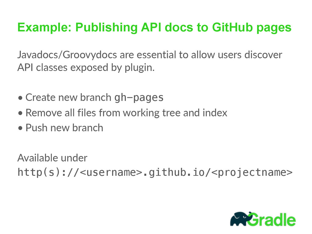 Example: Publishing API docs to GitHub pages Ja...