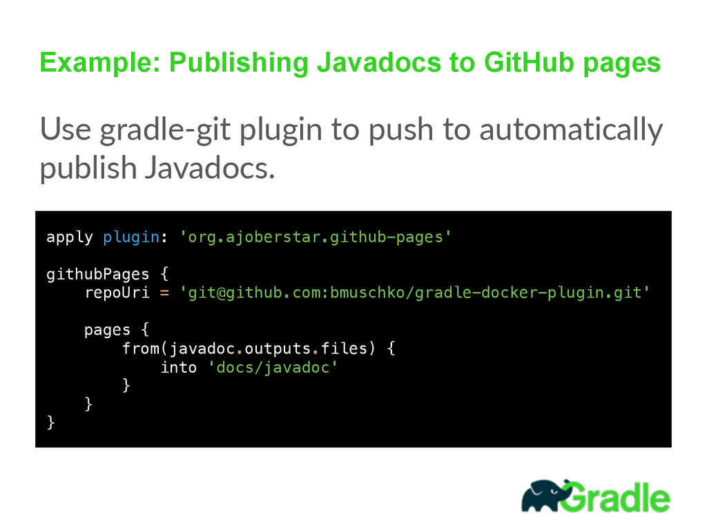 Example: Publishing Javadocs to GitHub pages Us...