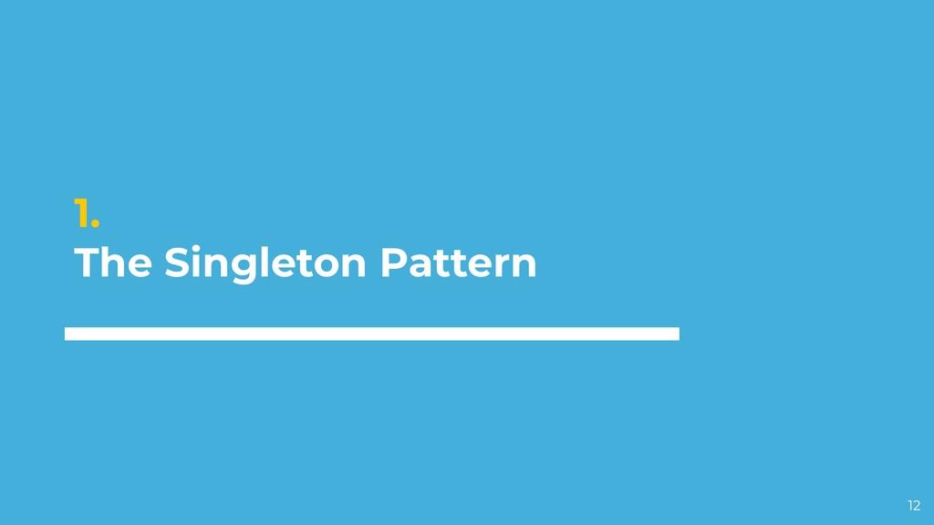 1. The Singleton Pattern 12