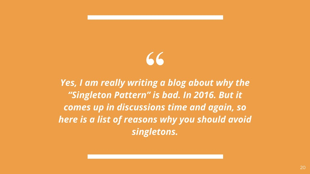 """"""" Yes, I am really writing a blog about why the..."""