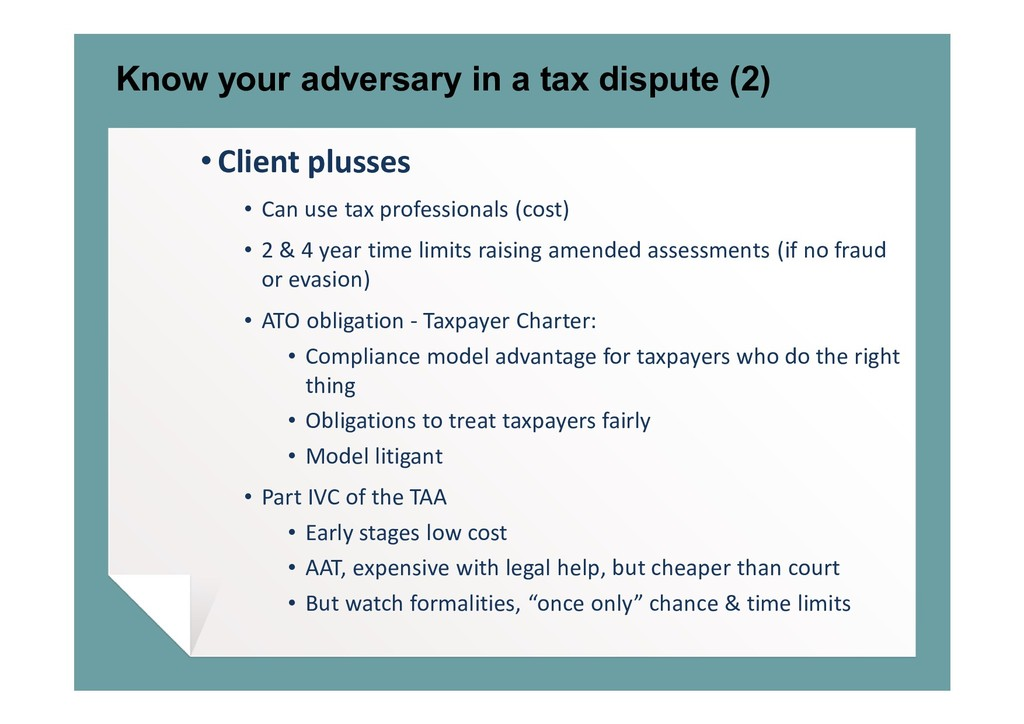 Know your adversary in a tax dispute (2) • Clie...