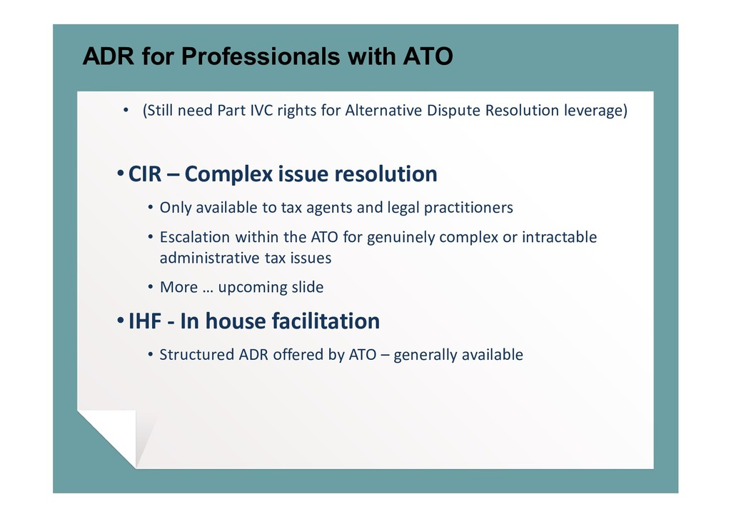 ADR for Professionals with ATO • (Still need Pa...