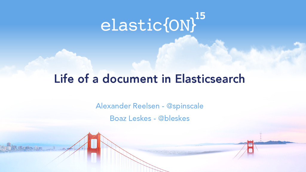 Life of a document in Elasticsearch Alexander R...