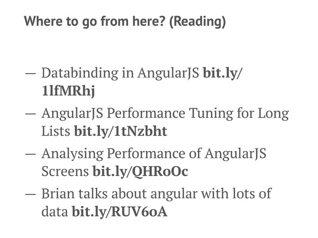 Where to go from here? (Reading) — Databinding ...