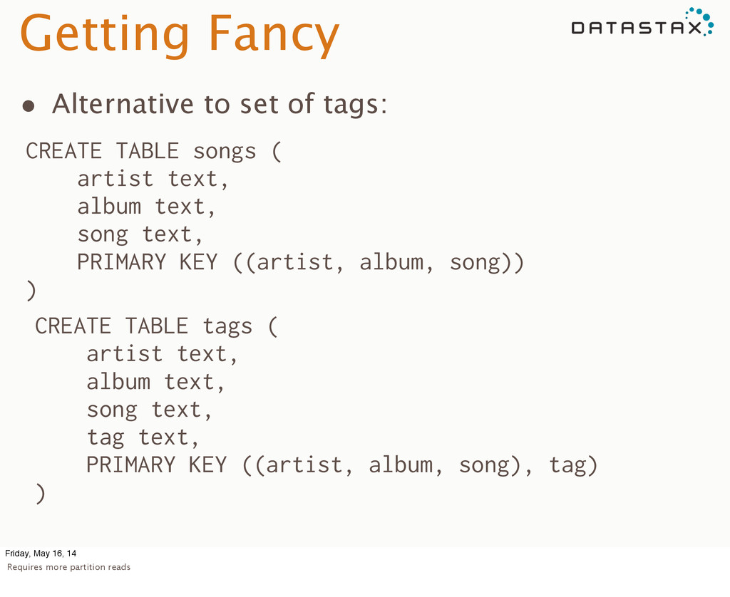 Getting Fancy • Alternative to set of tags: CRE...