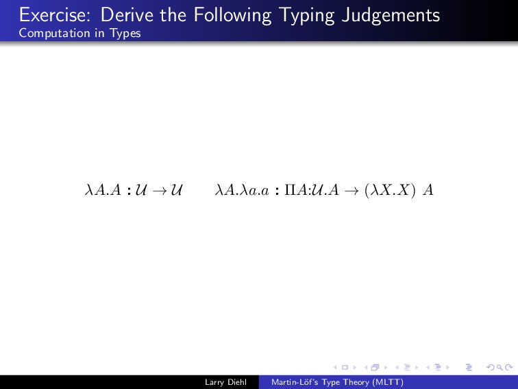 Exercise: Derive the Following Typing Judgement...