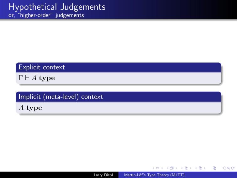 "Hypothetical Judgements or, ""higher-order"" judg..."