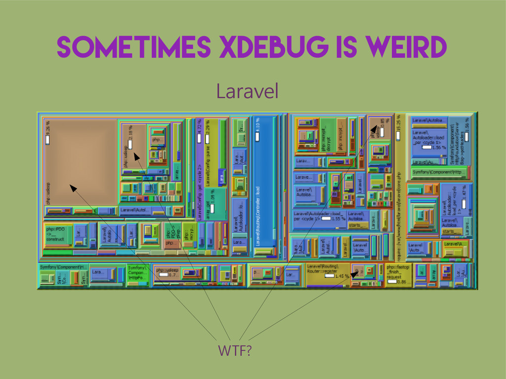 Sometimes XDebug is weird WTF? Laravel