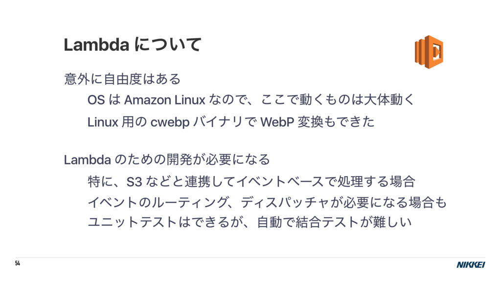 54 ҙ֎ʹࣗ༝͋Δ OS  Amazon Linux ͳͷͰɺ͜͜Ͱಈ͘ͷେମಈ͘...