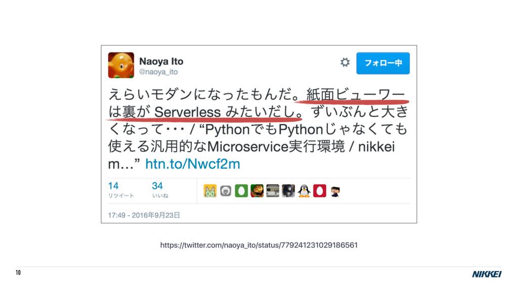 10 https://twitter.com/naoya_ito/status/7792412...