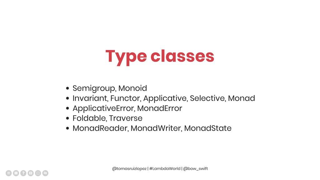 Type classes Semigroup, Monoid Invariant, Funct...