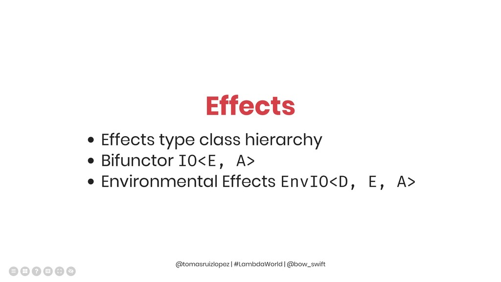 Effects Effects type class hierarchy Bifunctor ...