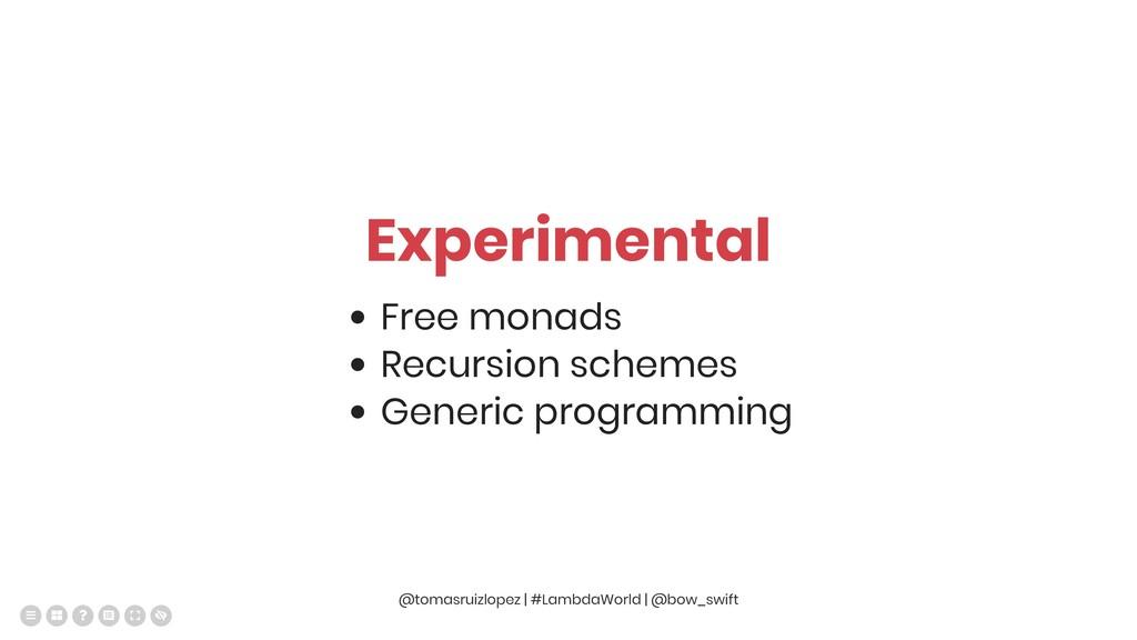 Experimental Free monads Recursion schemes Gene...