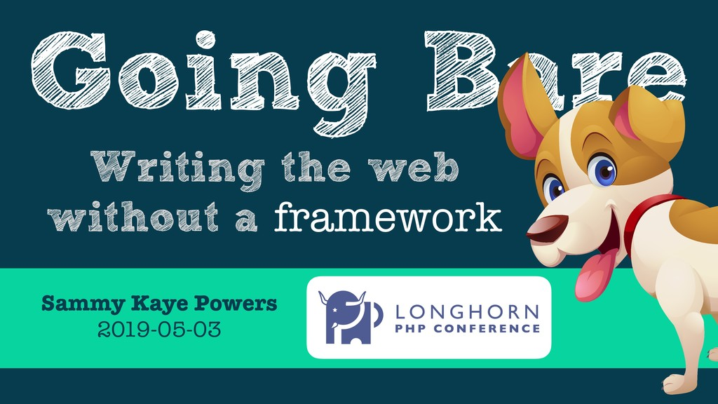 Going Bare Writing the web without a framework ...