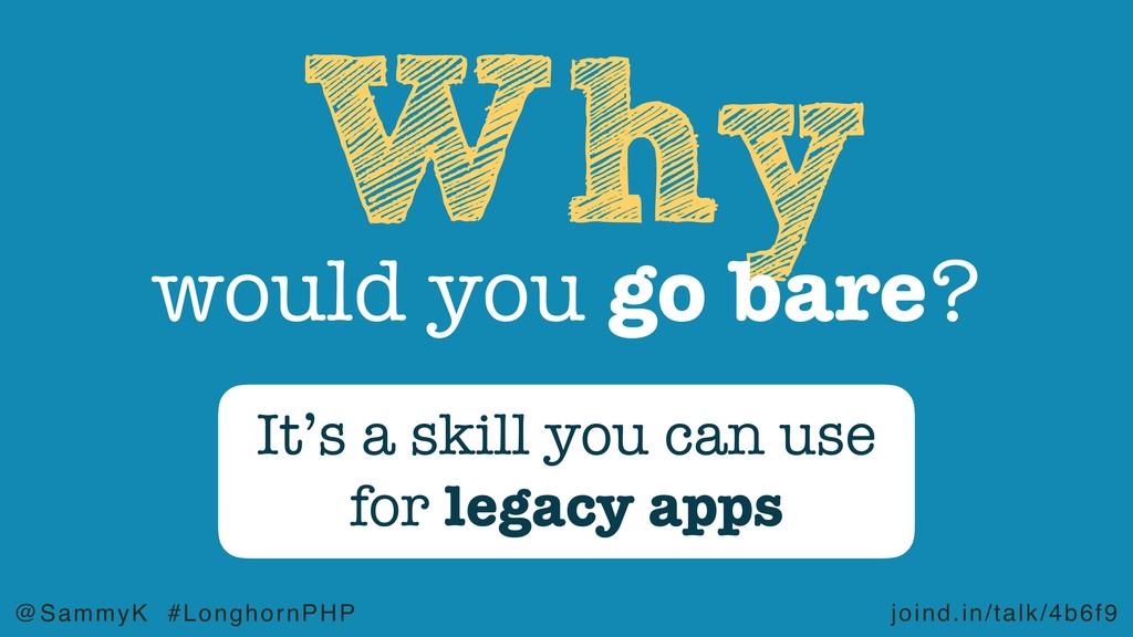 joind.in/talk/4b6f9 @SammyK #LonghornPHP Why wo...