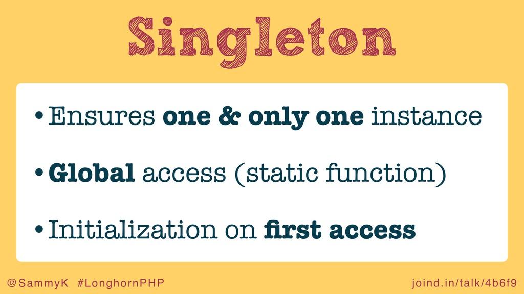 joind.in/talk/4b6f9 @SammyK #LonghornPHP Single...