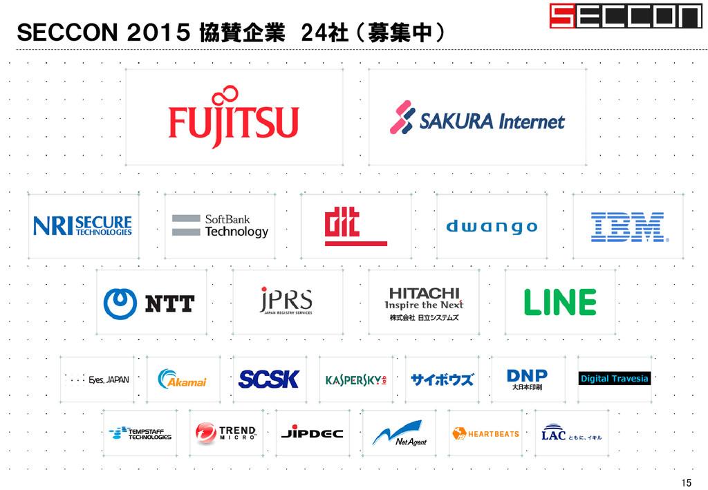 SECCON 2015 協賛企業 24社 (募集中) 15
