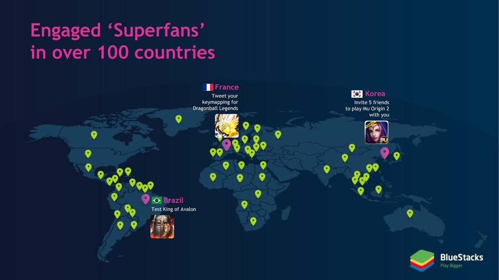 Engaged 'Superfans' in over 100 countries Franc...
