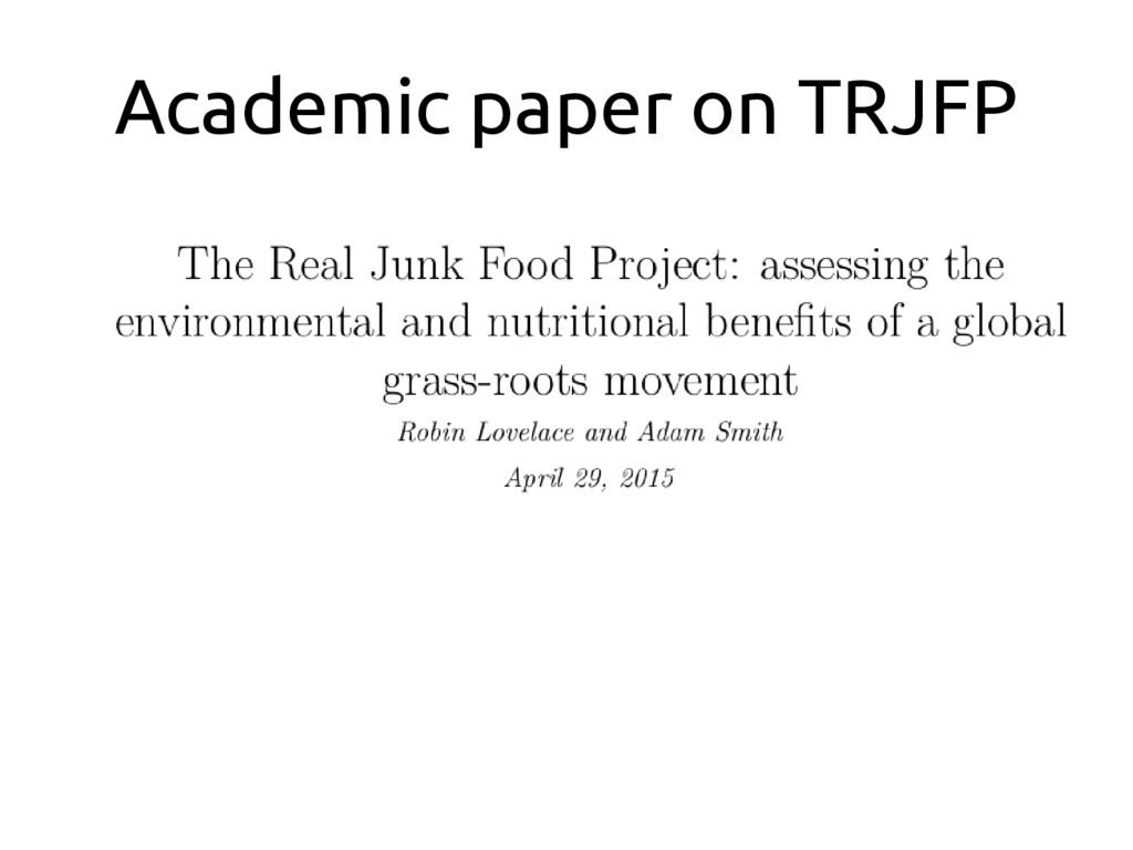 Academic paper on TRJFP