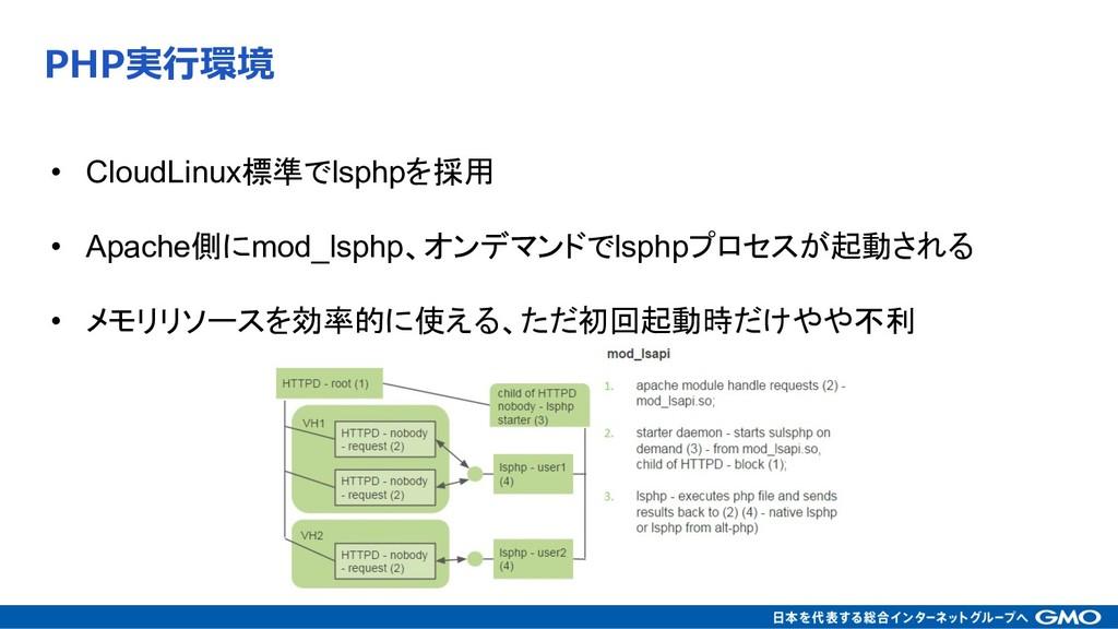 • CloudLinuxlsphp  • Apachemod_l...