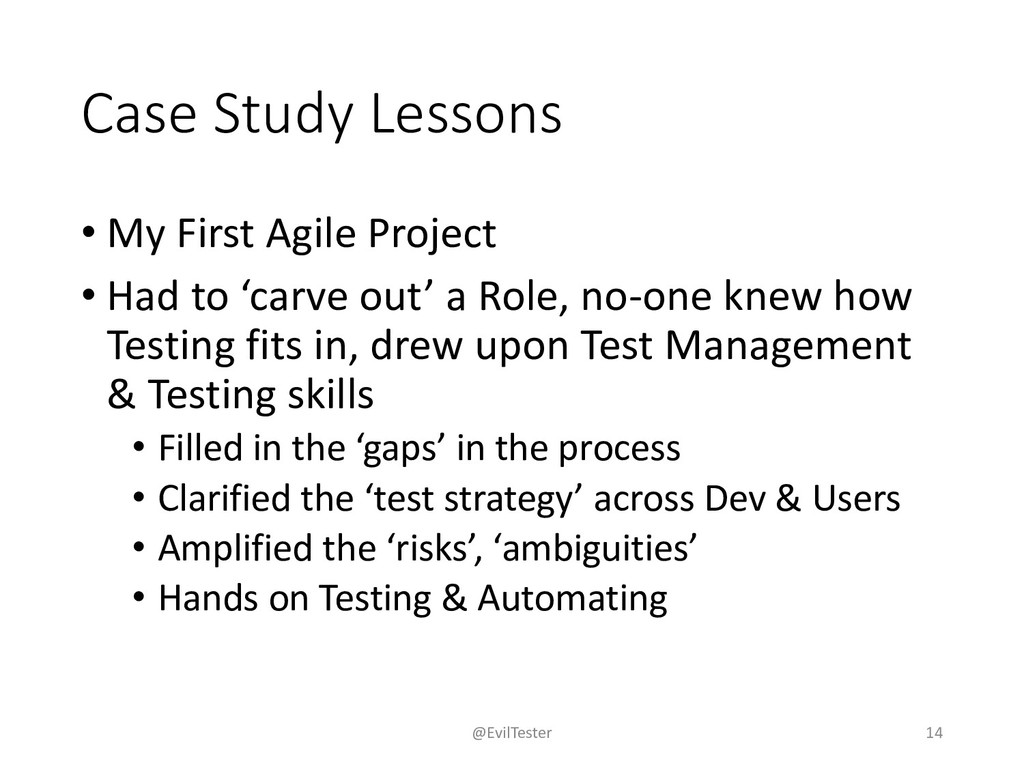Case Study Lessons • My First Agile Project • H...
