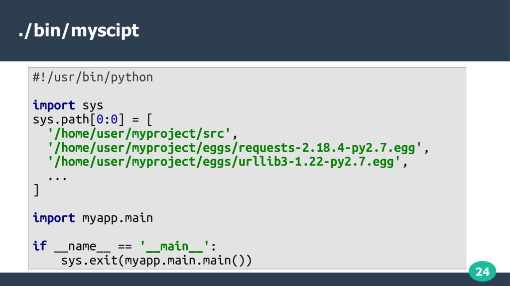 24 ./bin/myscipt #!/usr/bin/python import sys s...