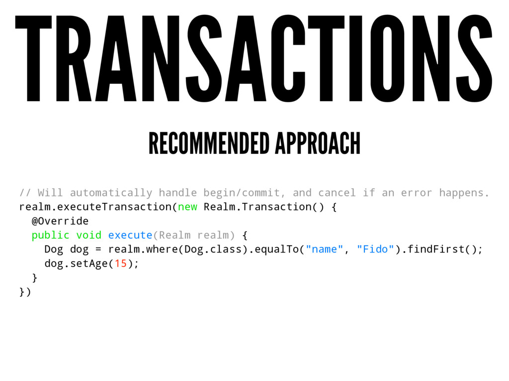TRANSACTIONS RECOMMENDED APPROACH // Will autom...
