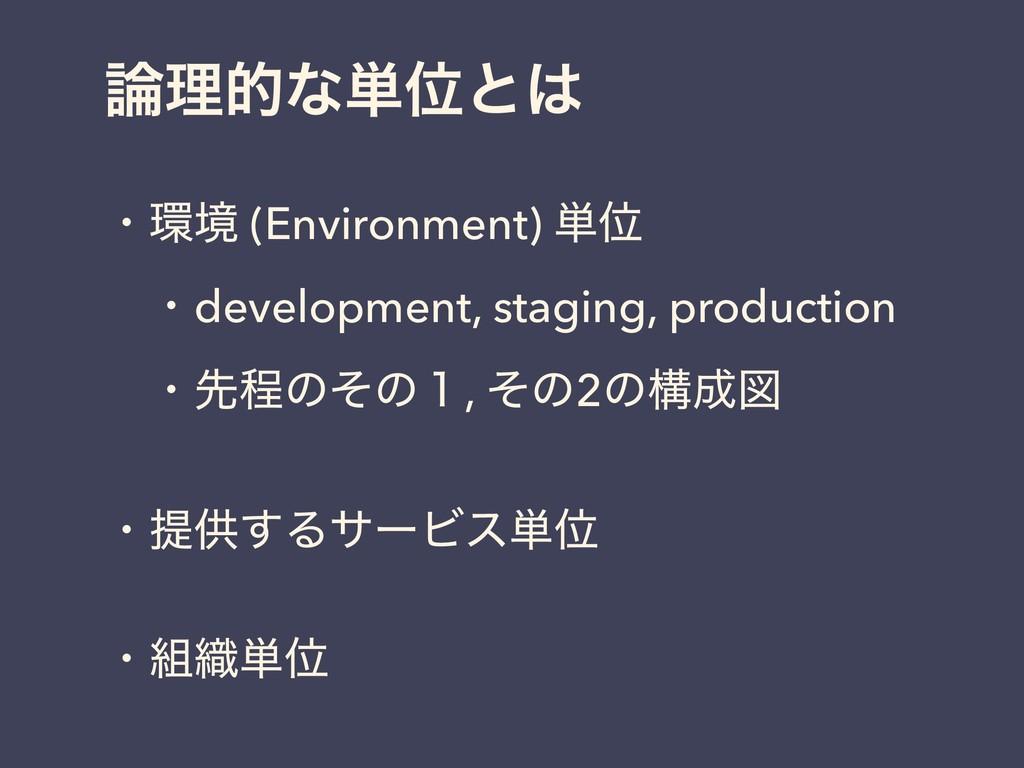 ཧతͳ୯Ґͱ ɾڥ (Environment) ୯Ґ ɹɾdevelopment, st...