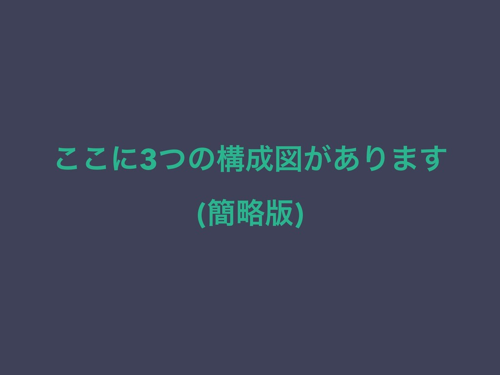 ͜͜ʹ3ͭͷߏਤ͕͋Γ·͢ (؆ུ൛)