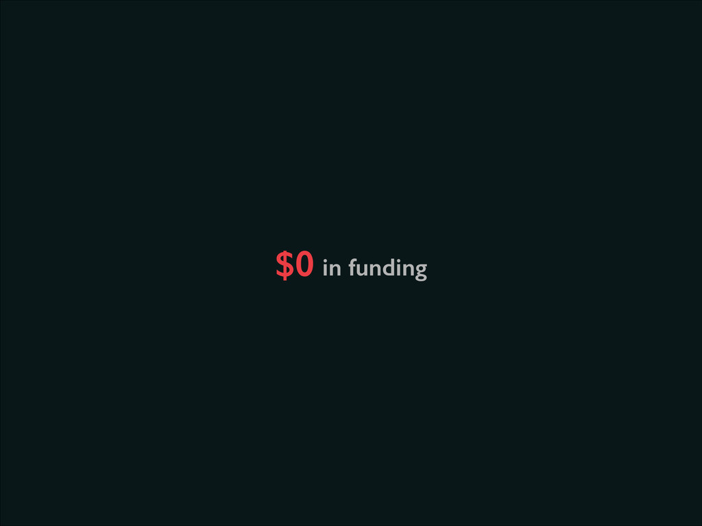 in funding $0
