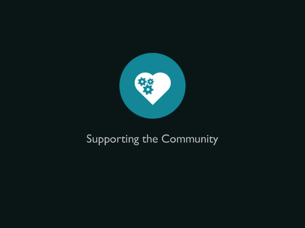 Supporting the Community