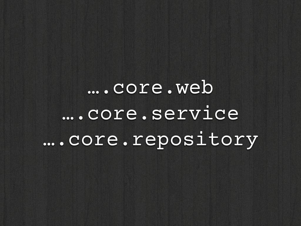 ….core.web ….core.service ….core.repository