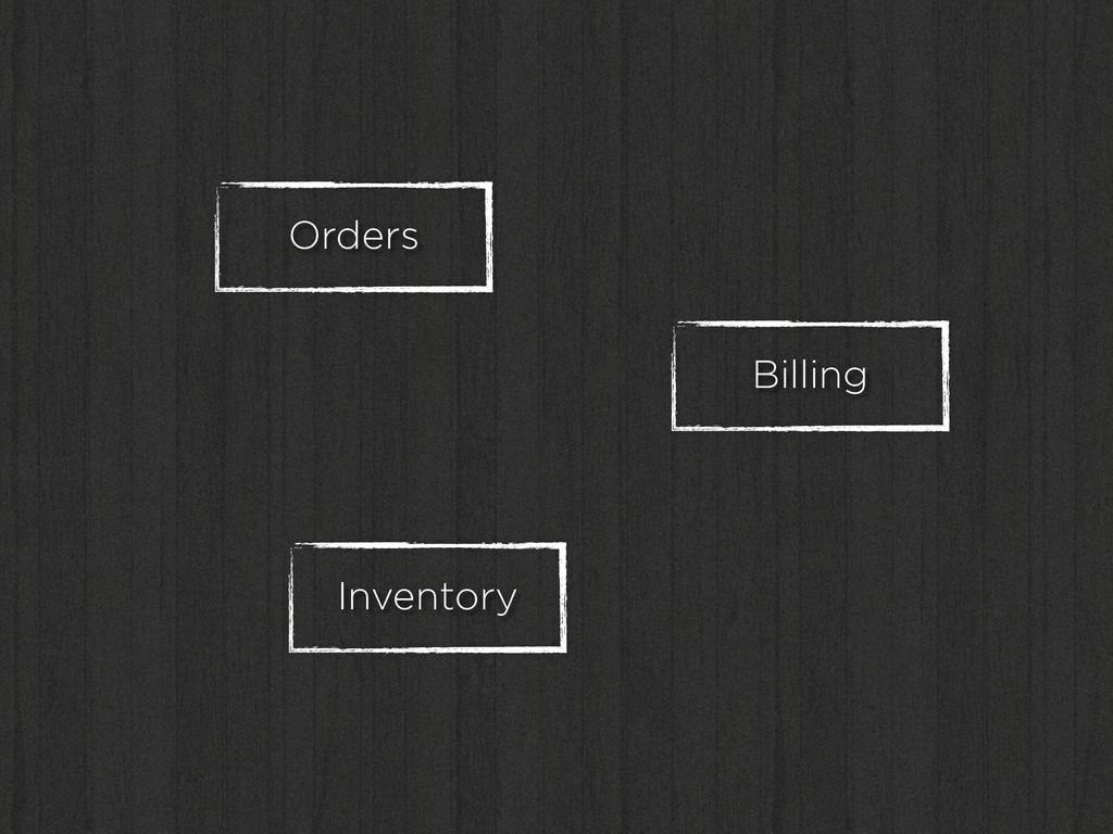 Orders Inventory Billing