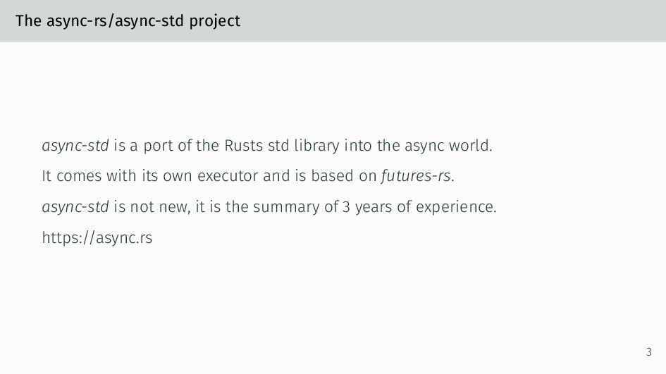 The async-rs/async-std project async-std is a p...